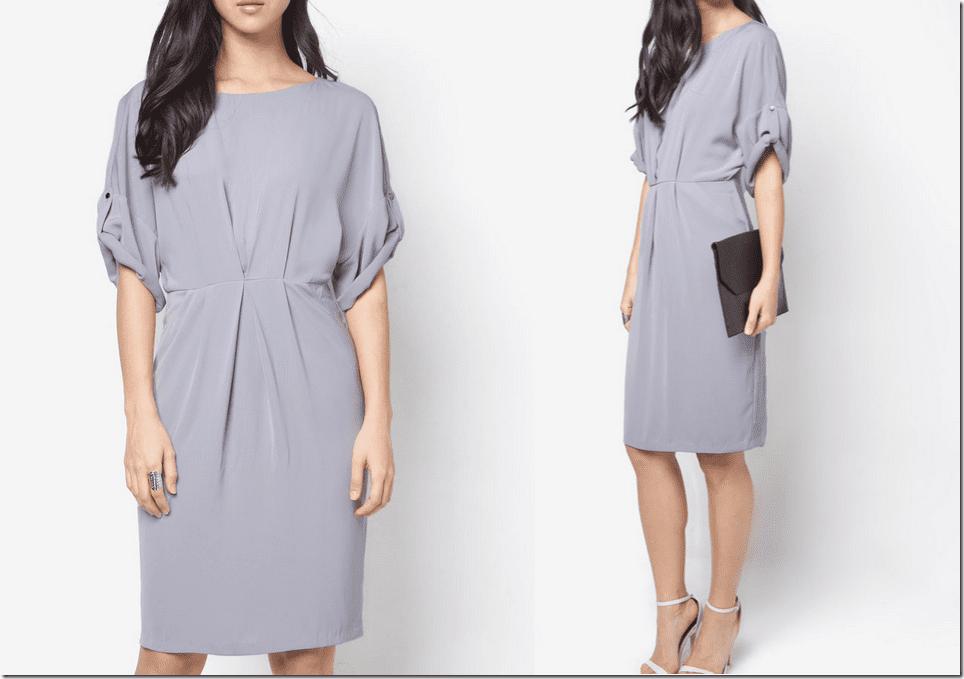 grey-draped-sleeve-midi-dress