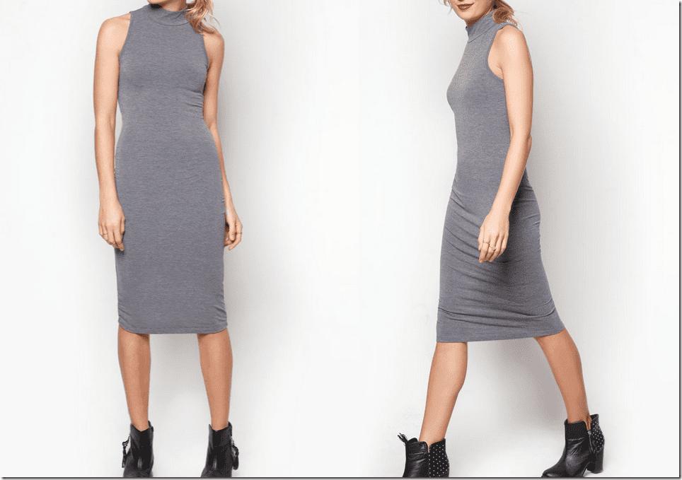 grey-mock-dress-midi-dress