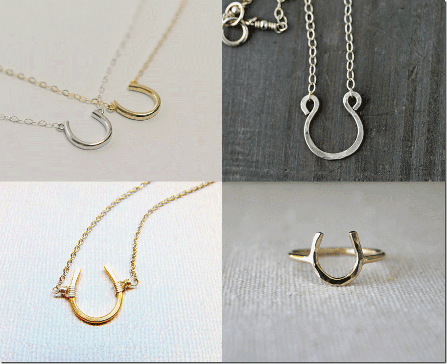 Lucky Horseshoe Jewelry Fashion Inspiration