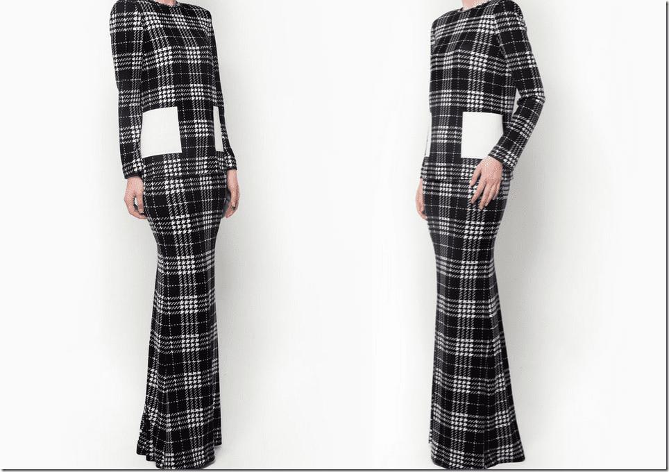 houndstooth-check-monochrome-baju-kurung