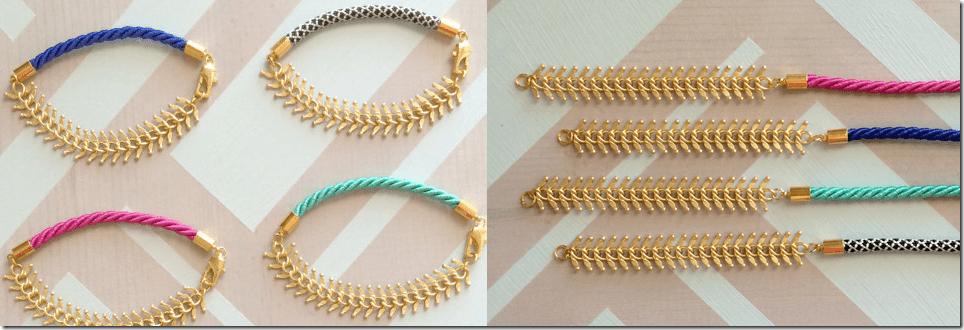 matte-gold-fishbone-chain-colored-cord-bracelet