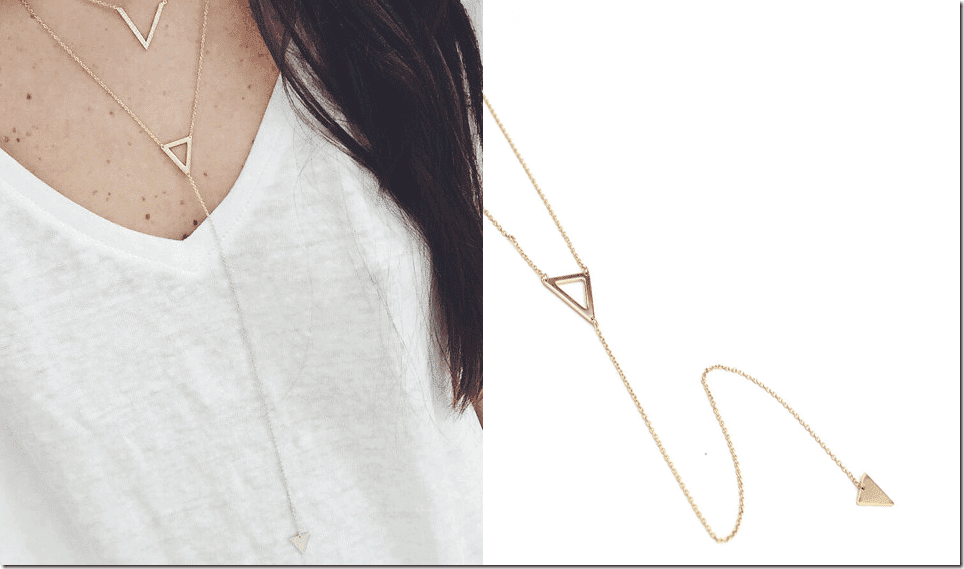 minimalist-gold-triangle-lariat-necklace