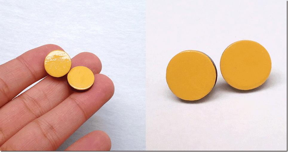 mustard-yellow-faux-gauge-stud-earrings