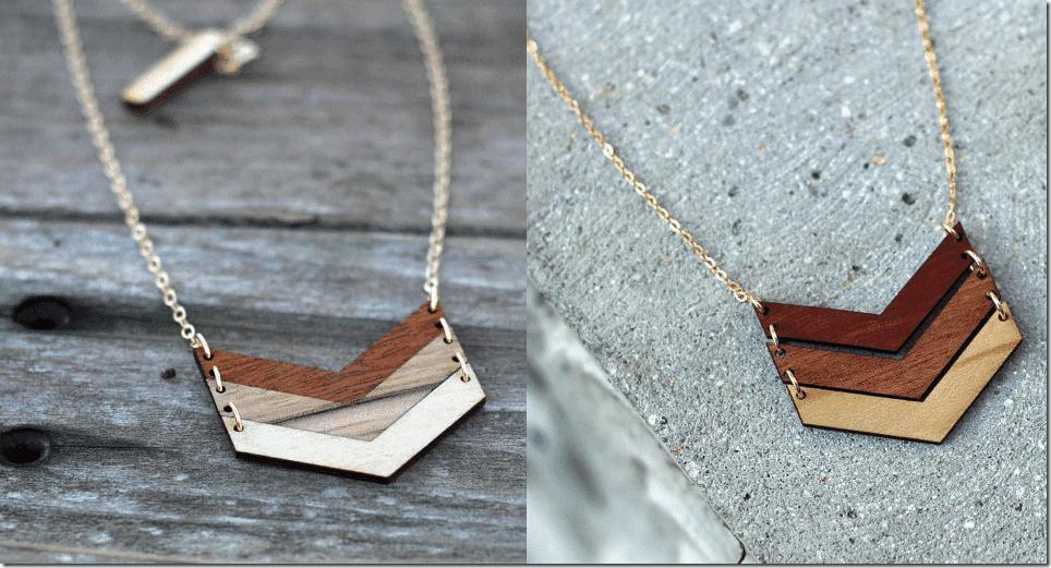 ombre-wood-chevron-necklace