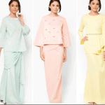 Fashionista NOW: Pastel Modern Baju Kurung For Raya 2015 Fashion Inspiration