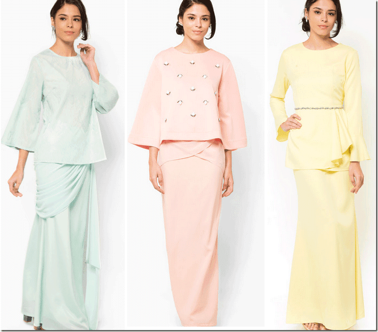 Pastel Modern Baju Kurung For Raya 2015 Fashion Inspiration
