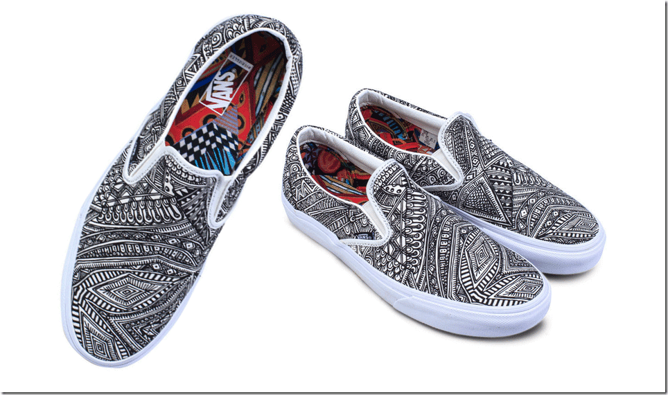 patterned-canvas-slip-on-shoes