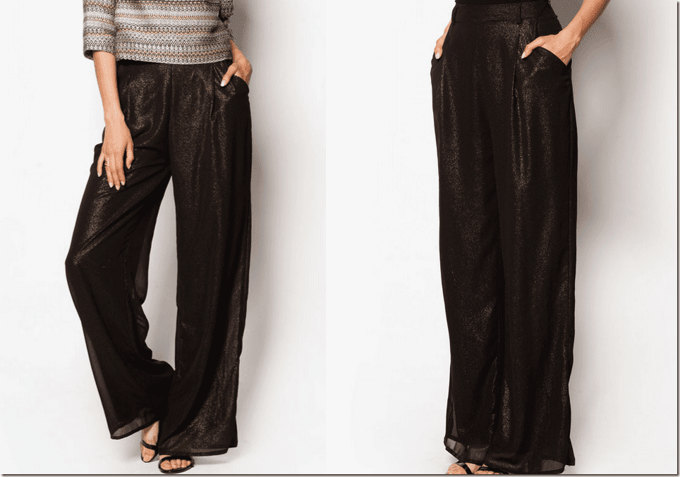 shimmery-gold-black-high-waisted-palazzo-pants