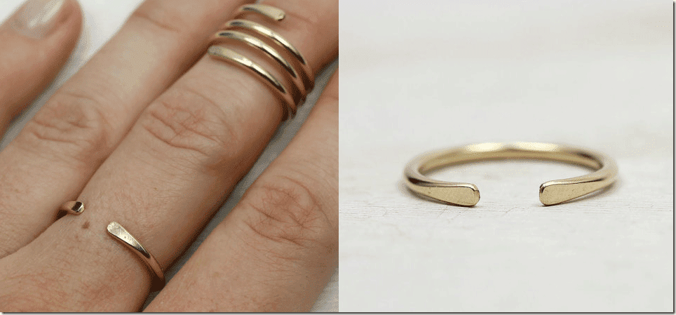 smooth-hammered-gold-horseshoe-ring