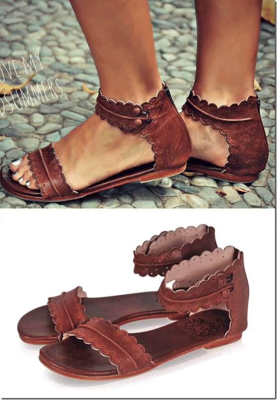 vintage-brown-boho-flat-leather-sandals