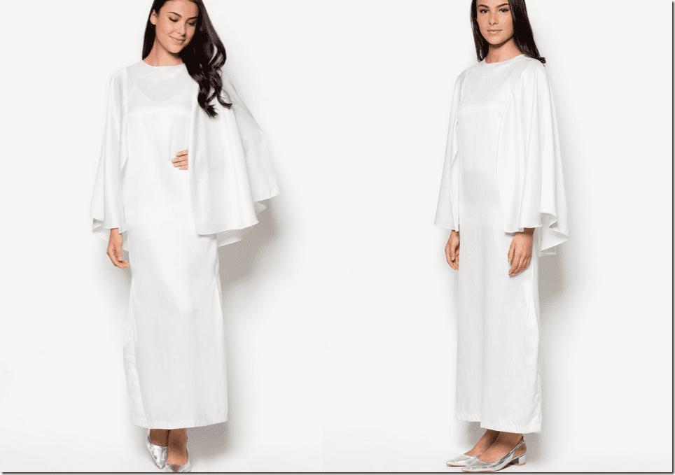 white-cape-butterfly-kaftan-dress