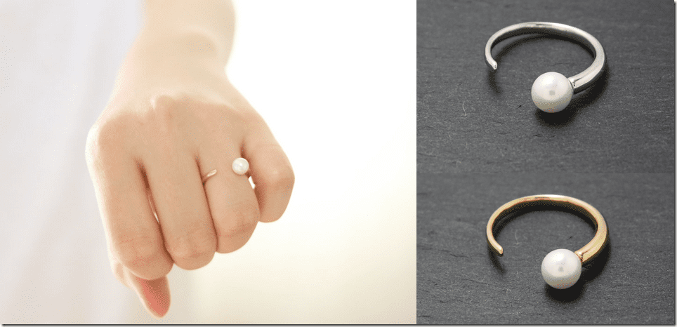 adjustable-horn-shape-pearl-ring