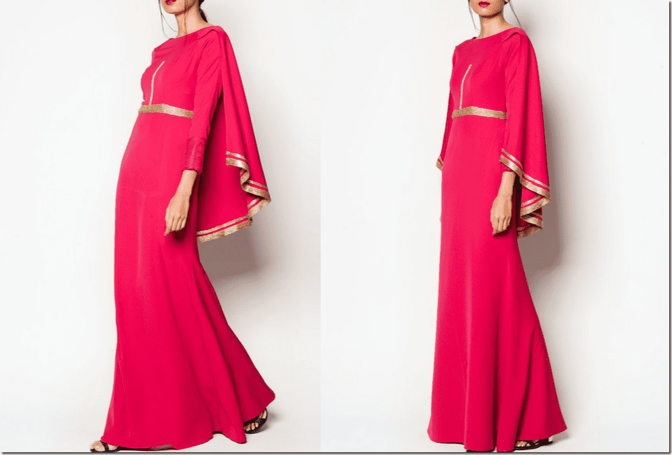 art-deco-fuchsia-gold-cape-dress