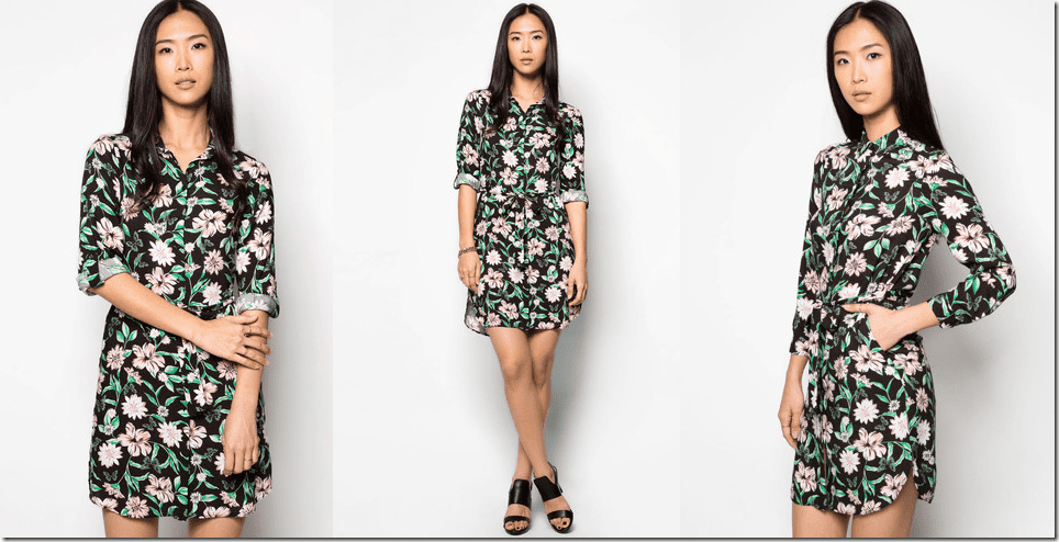 black-floral-shirt-dress