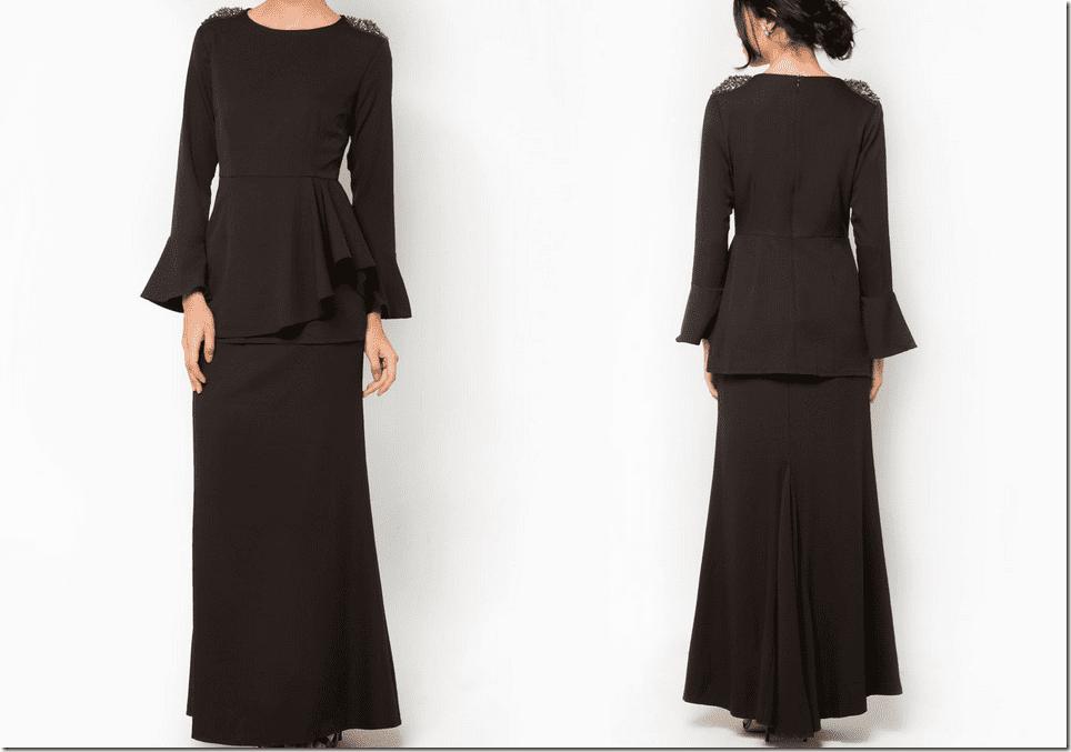 black-peplum-baju-kurung