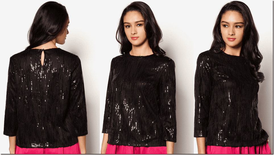 black-sequined-blouse