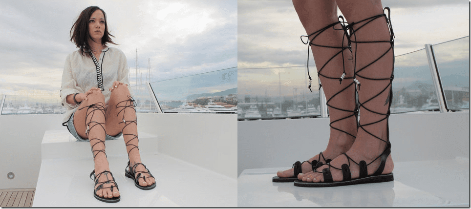 elegant-black-leather-gladiator-sandals
