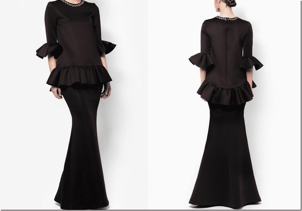 embellished-neck-structured-black-baju-kurung
