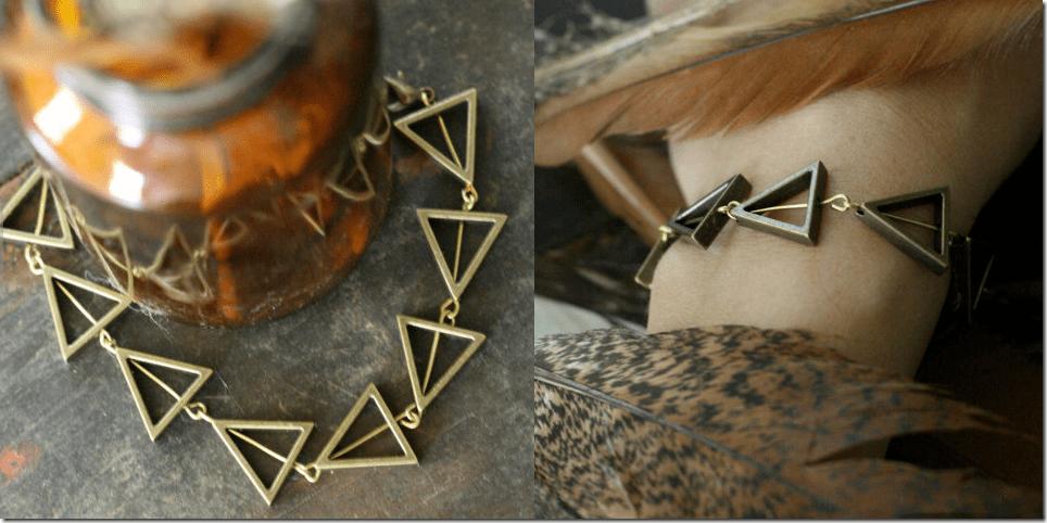 geometric-brass-triangle-bracelet