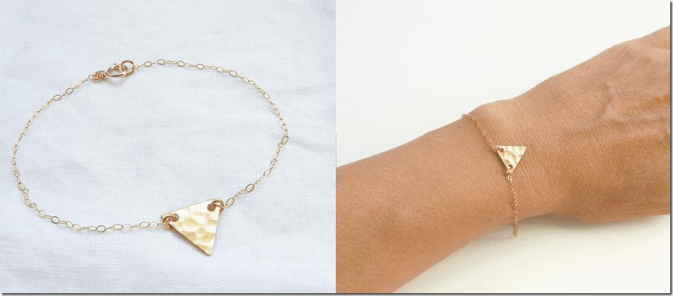 gold-hammered-triangle-minimalist-bracelet