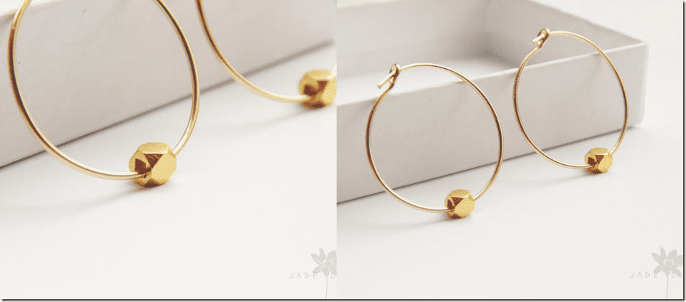 gold-minimal-hoop-faceted-cube-earrings