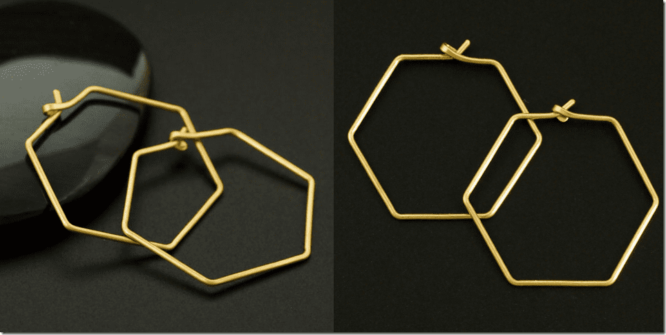 hexagon-wire-hoop-earrings