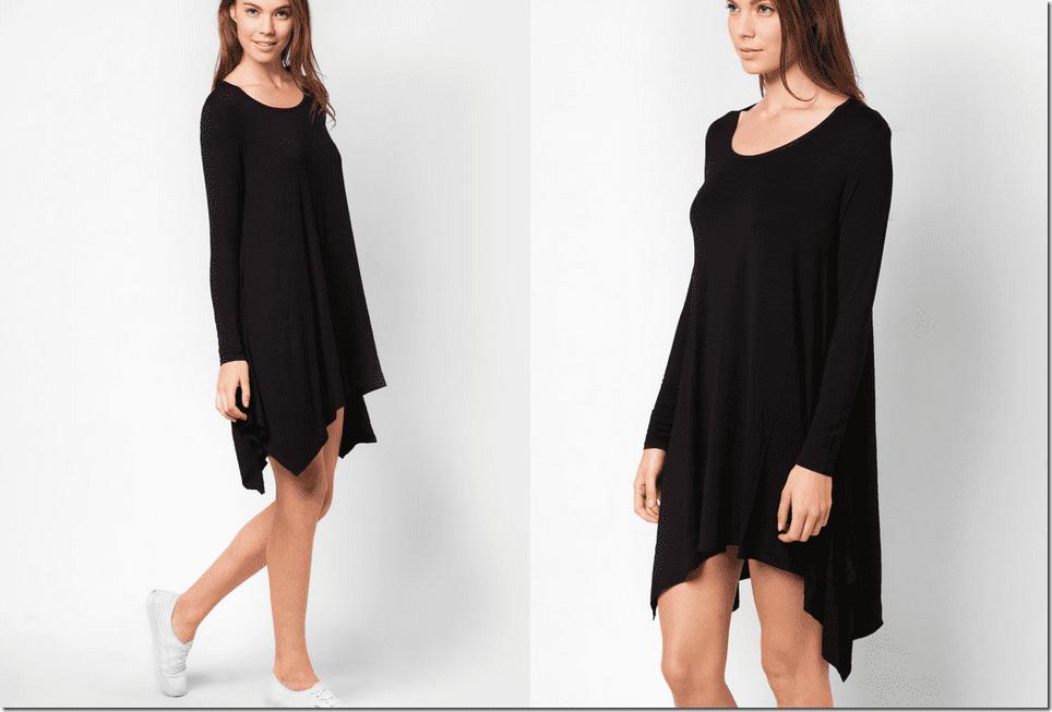 long-sleeve-black-handkerchief-dress
