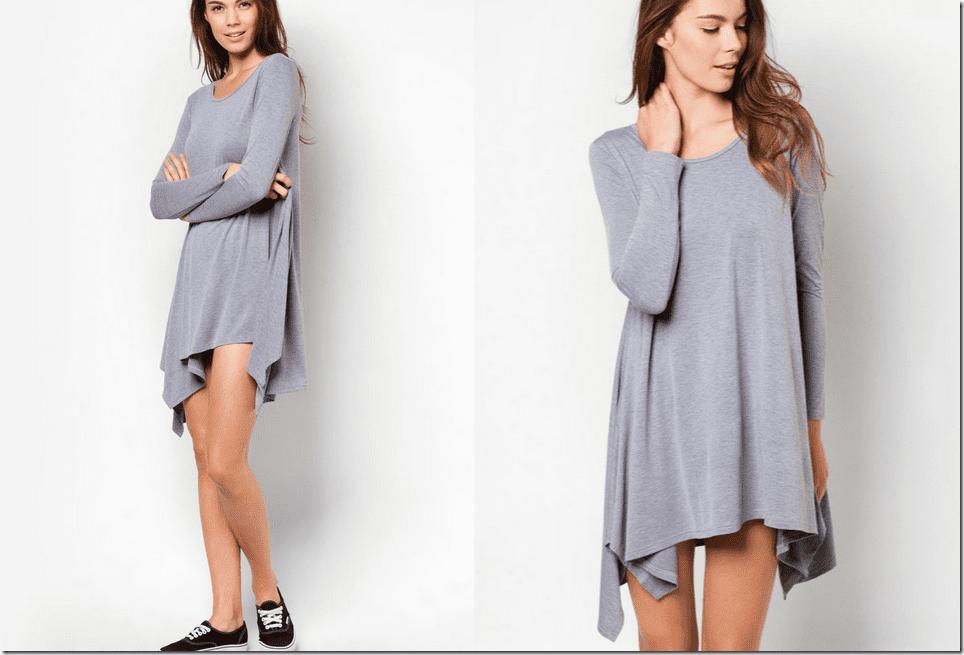 long-sleeve-grey-handkerchief-dress