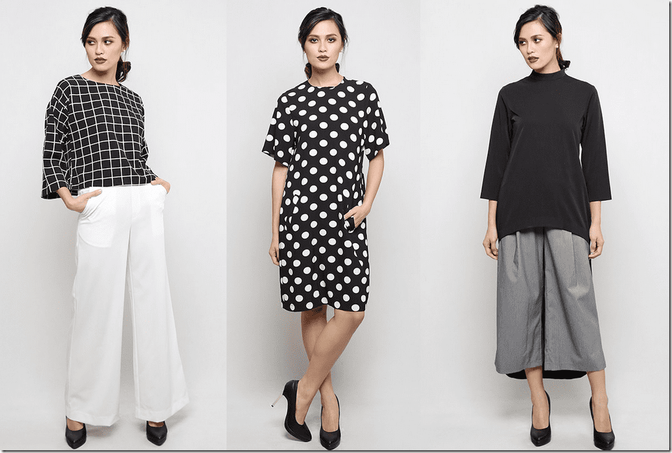 Wear Mastuli Khalid For A COMFY CHIC Monochrome Raya 2015