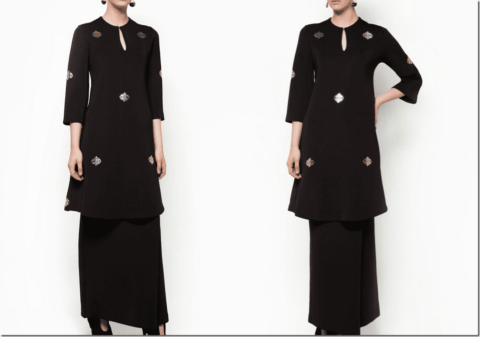 neoprene-black-baju-kurung