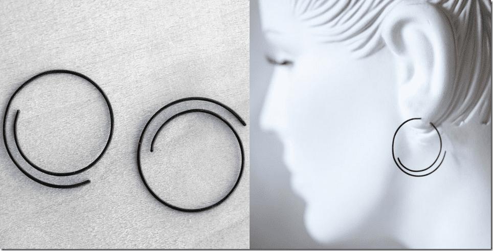 oxidized-sterling-silver-spiral-hoop-earrings