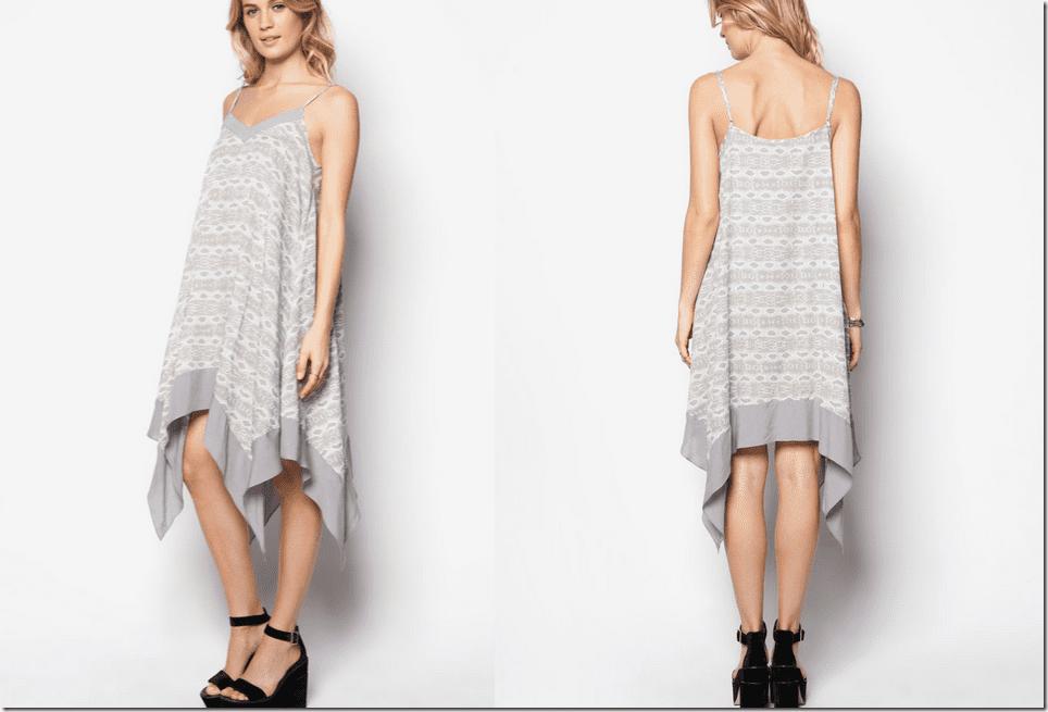 patterned-grey-handkerchief-hem-dress