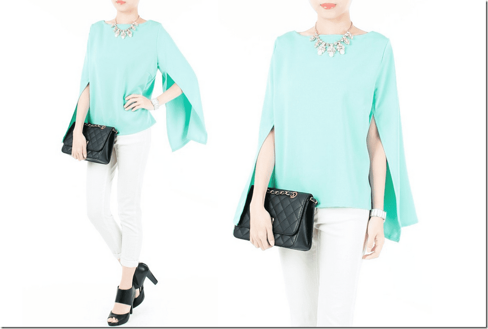seafoam-green-cape-blouse