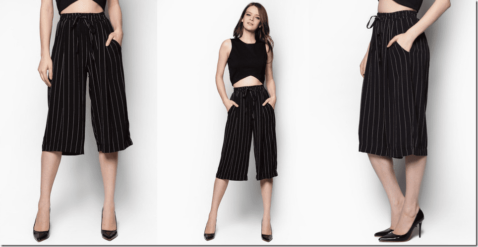 striped-drawstring-culottes