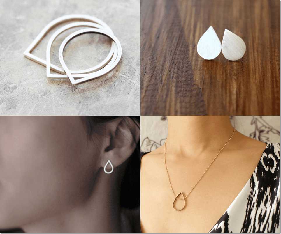 The Blank Space & Teardrop Inspired Minimalist Jewelry Inspiration