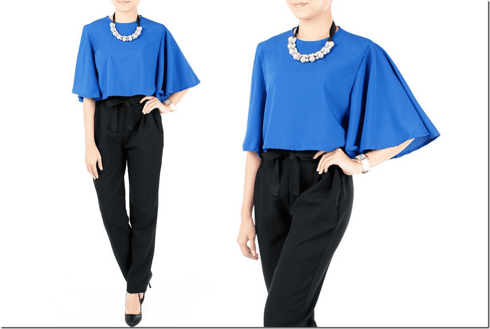 Cape Style Blouses To Wear For Raya 2015 Fashion Inspiration