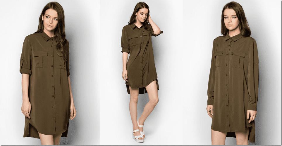 army-green-shirt-dress