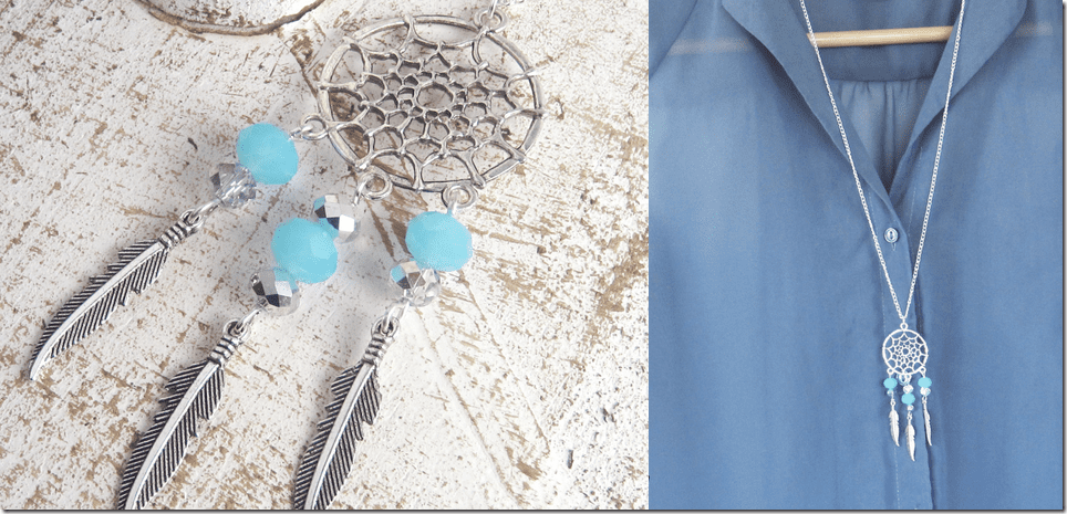 beaded-blue-silver-dream-catcher-necklace