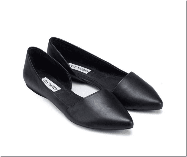 black-leather-dorsay-flat-shoes