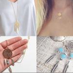 Fashionista NOW: Dreamcatcher Necklaces Jewelry Inspiration