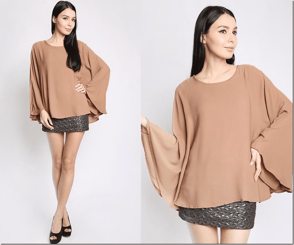 cappuccino-flowy-kaftan-blouse
