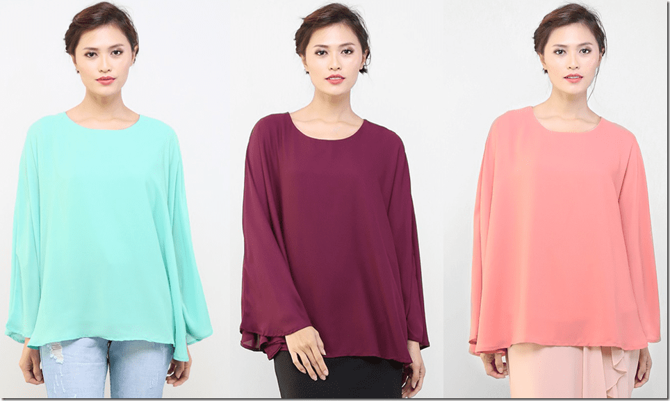 Keep Your Tummy Happy Wear Chiffon Kaftan Blouses For Raya 2015