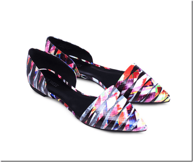 colorful-snakeskin-textured-dorsay-flats