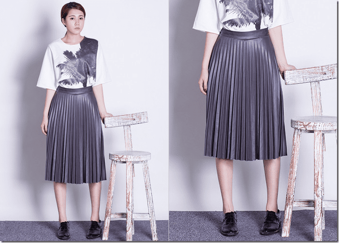 grey-accordion-pleated-midi-skirt