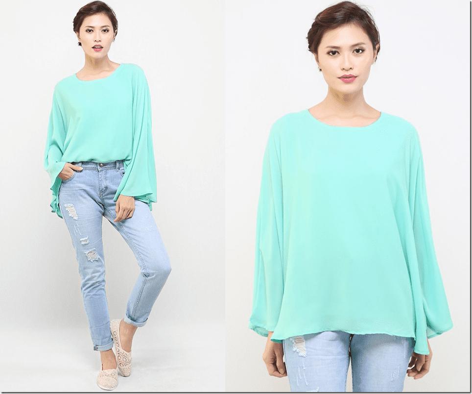 mint-flowy-kaftan-blouse