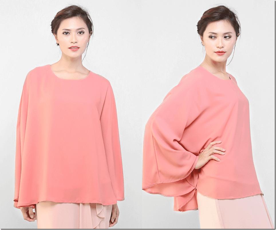 peach-flowy-kaftan-blouse