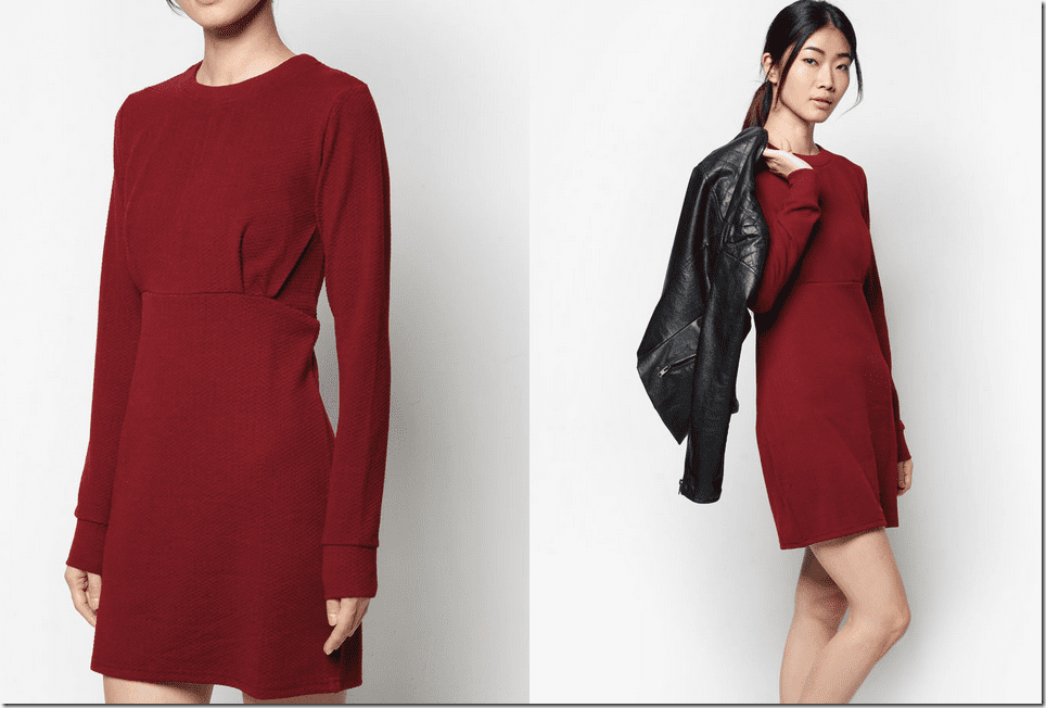 red-gaucho-long-sleeved-dress