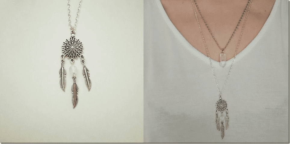 silver-dream-catcher-pendant-necklace