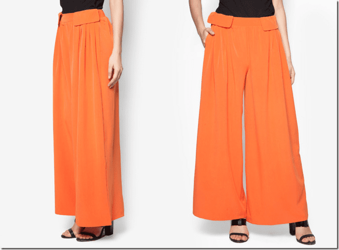 tangerine-orange-comfy-palazzo-pants