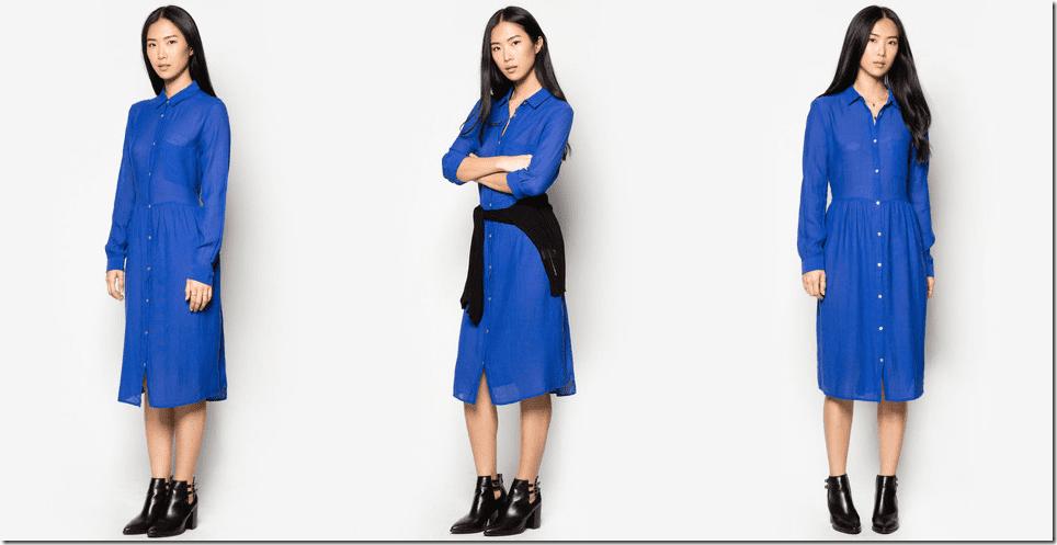 vibrant-blue-lightweight-midi-shirt-dress